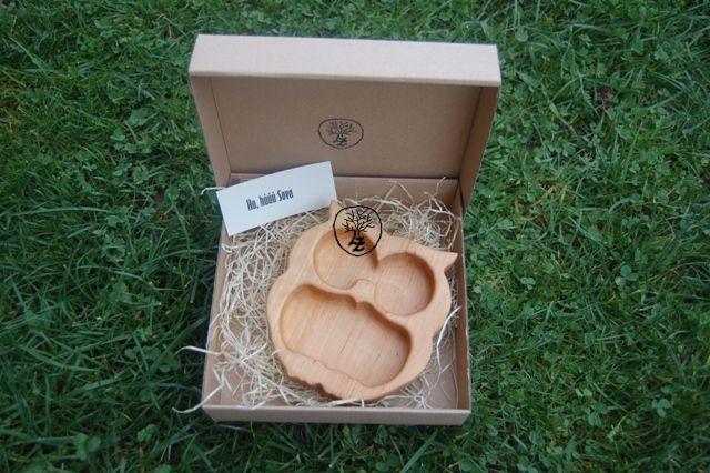 dřevěná miska sova