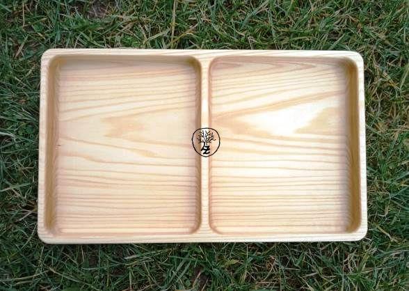 dřevěná dvojmiska