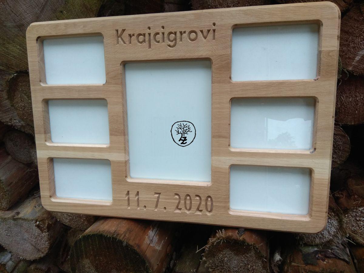 dřevěný fotorámeček